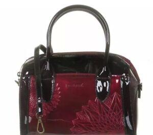 Bcwqaa New Bnwt Desigual Katia Amp; Bowen Burgundy Black Medium Handbag 47Ozqn