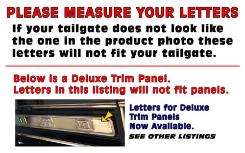 LICENSED TR113 1957-63 FORD F100 F350 TRUCK DECAL TAILGATE LETTERS