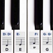 Piano Stickers Keys Removable Keyboard Accessories W Double Layer Coating 49 61