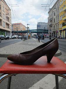 PETER KAISER Damen Schuhe Pumps Gr. Gr. Gr. 38 UK 5 Leder Braun 80er True aaa1bf
