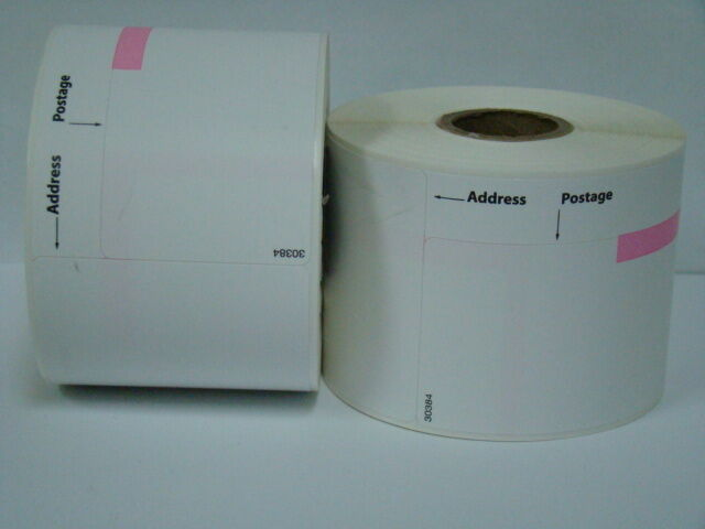 24 Rolls of Dymo LabelWriter Compatible 30384 2-Part Postage Labels 150 p//r