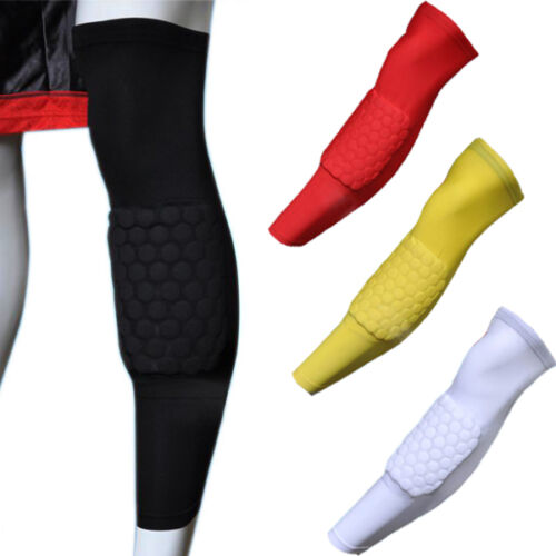 2X Kids Adult Sport Skate Basketball Honeycomb Pad Crashproof Knee Leg Sleeve
