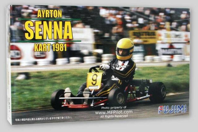 AYRTON SENNA 1981 Racing KART - 1/20 Fujimi Kit #9137 - NEW