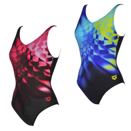 arena Badeanzug Damen Frauen Schwimmanzug schwarz blau MaxFit UV-Schutz UPF50+