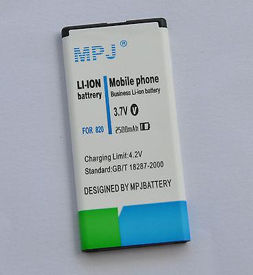 MPJ  2500mAh high capacity extended Battery  for  Nokia Lumia 820 BP-5T BP5T