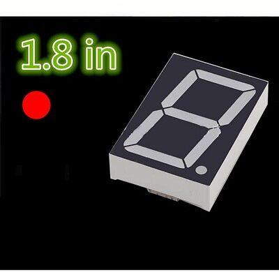 5PCS NEW 1.8 inch 1 digit Red Led display 7 segment Common cathode