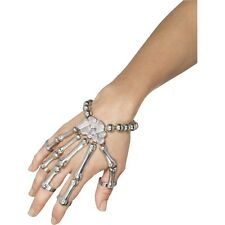 Para Mujeres Día de los muertos Brazalete De Mano De Esqueleto Huesos De Halloween Vestido de Fantasía Diversión