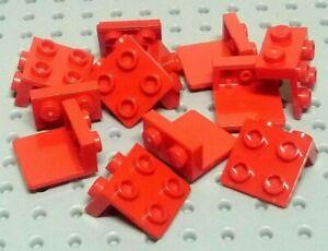 Lego-Halterung-Platte-1x2-2x2-44728-rot-x12