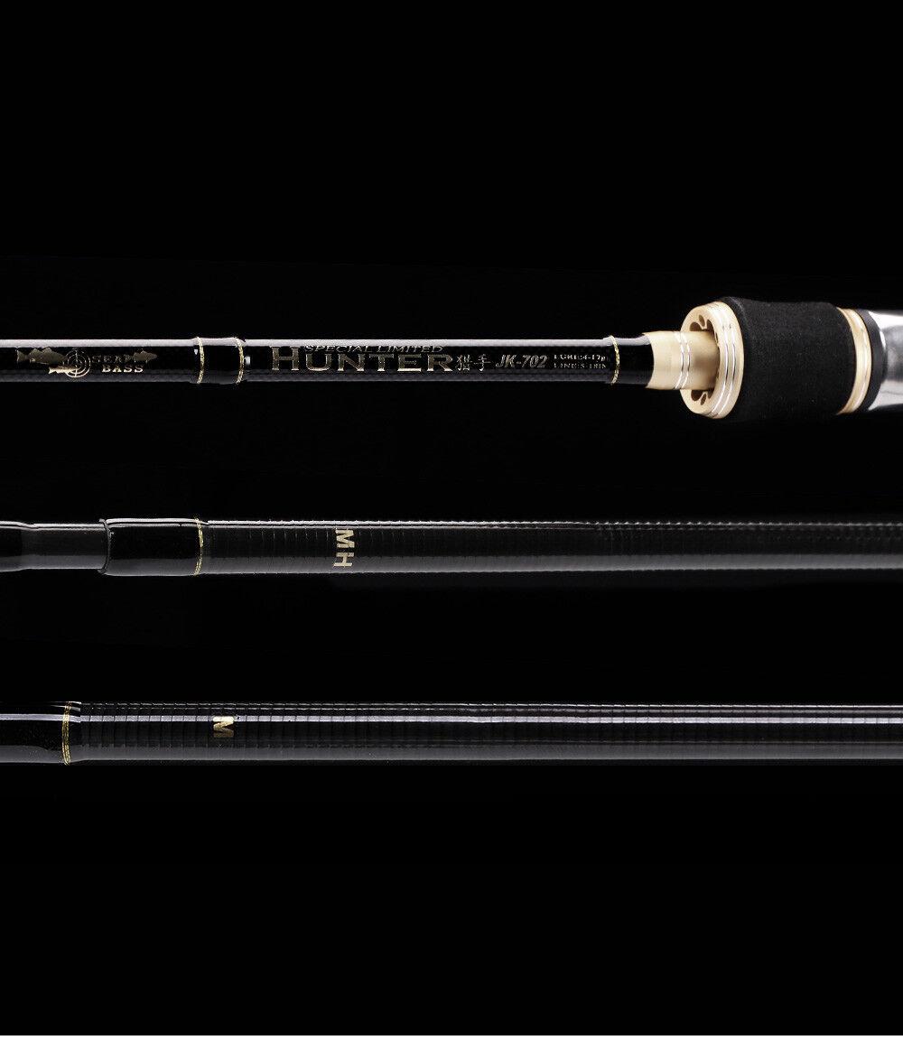 Leichte / mittlere 2.4 m  2 Spitzen Spoonrute Spinnrute Light Rute Spoon Forelle