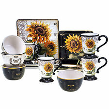 Certified International French Sunflower 16 Piece Dinnerware Set Service for 4  sc 1 st  eBay & Denby 16-piece Praline Noir Dinner Set Service for 4 | eBay