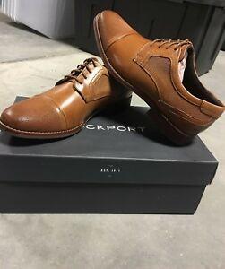 nytt koncept stabil kvalitet spara upp till 80% Rockport Style Purpose Cap Blucher Men's Oxford Shoe; Color: Tan ...