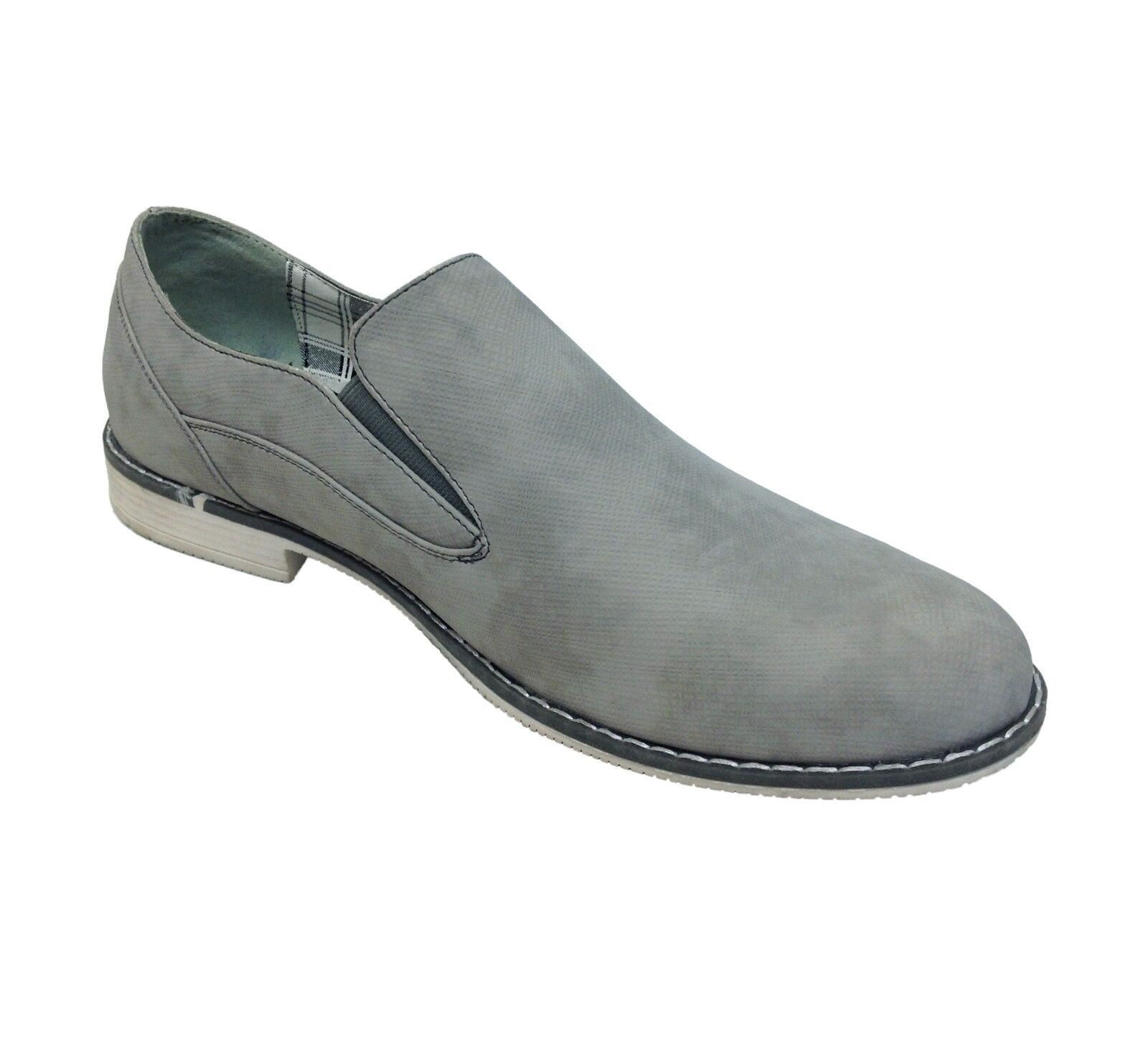 Mens Casual Shoes Italy Slip On Shoes Grey Italy Shoes Style Party Daily Wear Size fa1fb1