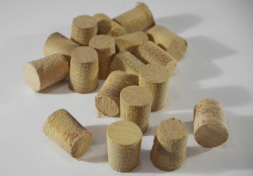 """50 mm /& 1//2/"""" Conique Pellets Abang Hardwood Plugs-différentes tailles 8 mm"""