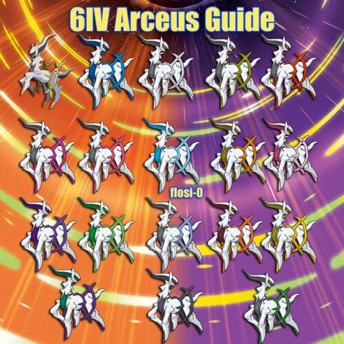 Sun//Moon//Ultra SM 6IV Shiny Arceus All Forms Pokemon Guide