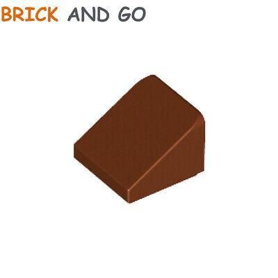 10 X Lego 54200 Brique Toit (marron, Brown) Roof Tile Brick 1x1 Slope Neuf New