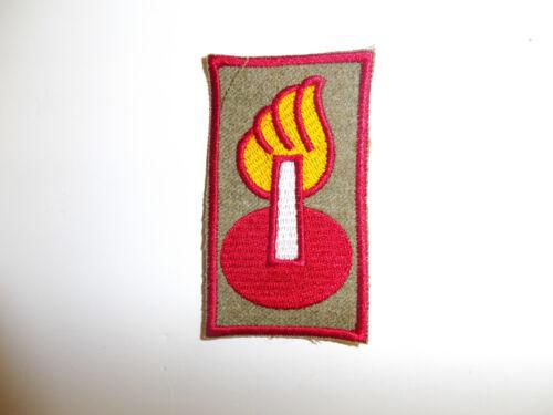 b5037 WW 2 US Army Officer Ordnance Intelligence sleeve patch wool R9A