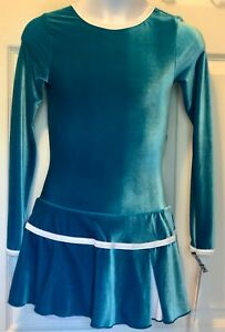 GK-Lg-SLV-TURQUOISE-VELVET-CHILD-LARGE-CONTRAST-TRIM-ICE-FIGURE-SKATE-DRESS-CL
