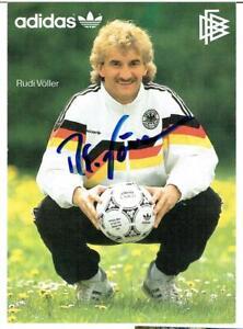 Rudi Völler  AK  DfB 1990 Bremen / Leverkusen mit original Unterschrift