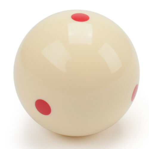 """2-1//4/"""" Regulation Size 6 Red Dots Billiard Practice Training Pool Cue Ball"""