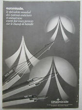 7/1983 PUB EUROMISSILE ROLAND HOT MILAN MISSILE ANTICHAR ANTIAERIEN FRENCH AD