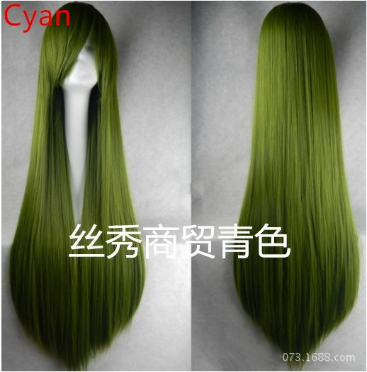 New 100CM Long Straight Wigs Women Cosplay Full  Wig More Colors Party Club