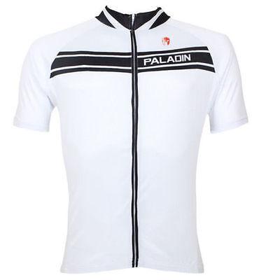 Weiß Paladin Herren Jersey Fahrrad Hemd Sport Zyklus Trikot Sportbekleidung