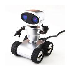 Mini Robot 4 Port USB Hub 2 Pack Set PC Mac Compatible Wall-E Style Office Gift