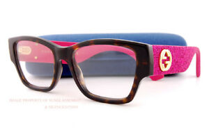5bf94f30158 Brand New GUCCI Eyeglass Frames GG 0104 O 003 Havana Pink Women 100 ...