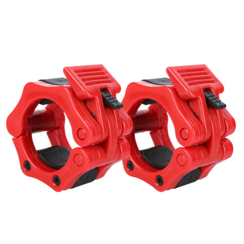 Details about  /1 Pair POWERT Olympic Barbell Collar Clamp Heavy Duty Lock-Jaw for 2/'/' Bar