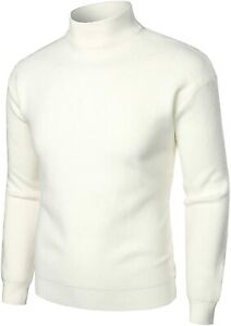 VATPAVE Mens Casual Slim Fit Pullover Sweaters Knitted Thermal Turtleneck Sweater Basic Tops