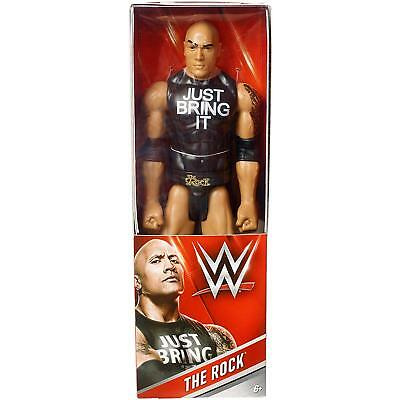 The Rock WWE Superstar 12in Wrestling Action Figure Mattel Just Bring It Shirt