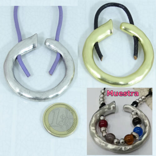 Authentic Zamak Bead for Necklace 1 31//32in Pendant Pendant Perline Beads Charms