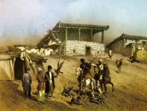 Mosque of Yarag 1847 Dagestan Grigory Gagarin Islam 7x5 Inch Print