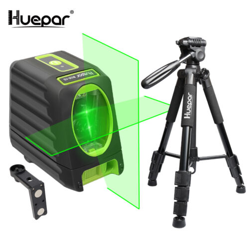 Huepar Set box-1g avec lumière laser Lunettes//Détecteur//Trépied