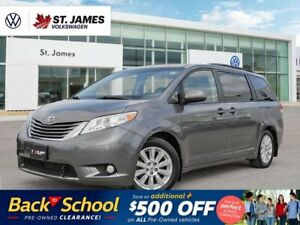 2014 Toyota Sienna XLE, LOCAL ONE OWNER, POWER SUNROOF, BACKUP CAMERA