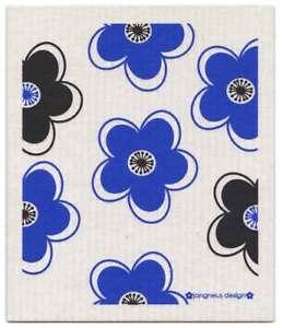 NEW-Blue-Black-Flowers-Design-Eco-Friendly-Kitchen-Dishcloth