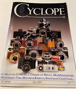 Revue Photo Photographe amateur appareils photographiques Cyclope N°67 68 2003