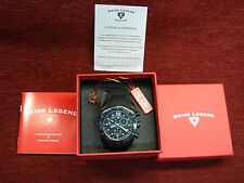 SWISS LEGEND - COMMANDER -DIAMONDS- MEN'S CHRONOGRAPH - NEW WITH TAGS - COOL!