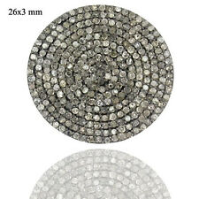 New 26X3 mm Round Disc Spacer Finding Natural Diamond Pave Vintage Style Jewelry