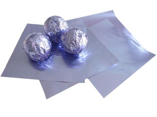 50 Blatt Flieder 80x80 Wrapper bunte Alufolie Pralinen Einwickelfolie zertifizie