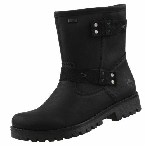 NEU Rieker TEX Damenschuhe Schuhe Stiefeletten gefüttert Boots Winter-Stiefel