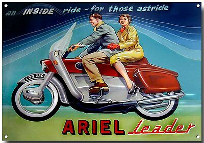 ARIEL SQUARE FOUR,NEVER NEVER GIVE UP YOUR.. METAL SIGN.BRITISH BIKES