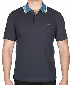Lacoste Men/'s Piped Thick Cotton Pique Polo Shirt Slim Fit S//S PH7120 51 Grey