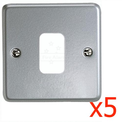MK K3499 ALM Grid Plus 9G Surface Metal Frontpate Aluminium