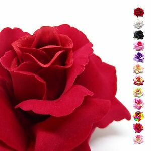 2 12pcs Big Silk Rose Head 375 Fabric Artificial Flower Bulk