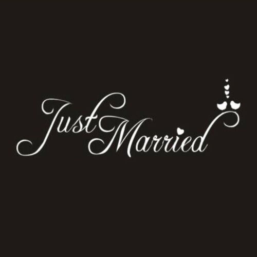 EY/_ EG/_ JUST MARRIED LETTER CAR WINDOW WATERPROOF STICKER DECOR WEDDING SUPPLIES