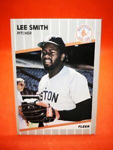 Fleer 1989 carte card Baseball MLB NM+/M Boston Red Sox #99 Lee Smith