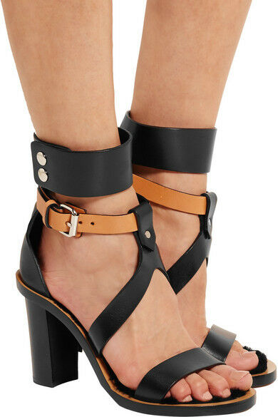 New Isabel Marant Jenyd shearling-lined shearling-lined shearling-lined leather sandals Dimensione 37 8477d3