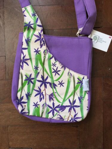 Quintessential RHS Purple and Floral Cross Body Bag BNWT