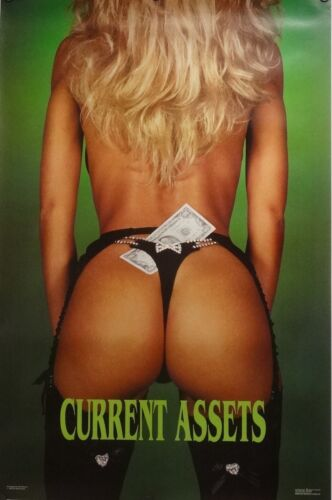 Current Assets 23x35 80's Pin Up Girl Poster 1988 Sam Maxwell